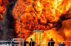 آتشسوزی بزرگ در پالایشگاه حیفا +فیلم