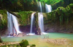گزارش تصویری| هفت آبشار تیرکن در جنگل های لفور سوادکوه