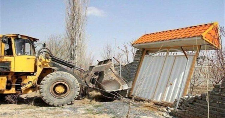 تخریب ۳۴ ویلای غیرمجاز در پردیس
